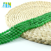 Xulin X000702 China Wholesale Green Round Cat Eye Beads for Necklace Synthetic Cat Eye Stone