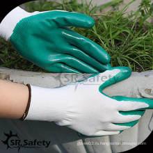 SRSAFETY 13G Полиэфирные трикотажные рабочие перчатки с нитрилом