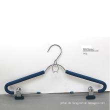 Metall Chrom poliert Clips Kleiderbügel mit Schaum
