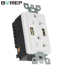 Wide application wall socket standard grounding new design receptacle