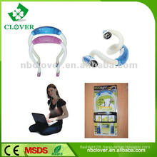 4 LED Neck flexible led book reading light for promotion