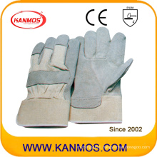 Industrial Safety Cow Split Leather Work Gloves (11008)