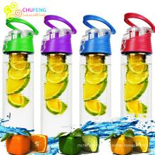 Воды infuser плодоовощ бутылки bpa бесплатные спортивные фрукты настой бутылки воды доказательства утечки