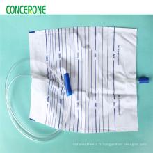 Collecteur de sac d'urine de Push-Pull, sac de collection d'urine d'adulte