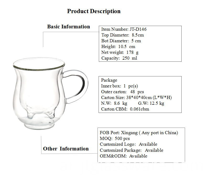 Cheap Price Glass Cup for Milk