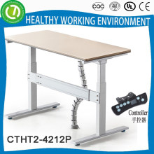 2015 Newest standing and siting table system with carble organizer