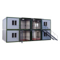 chinese supplier fast build mobile prefabricated 20ft flat pack container house for labor camp living