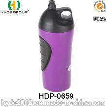2017 neue BPA FREI Kunststoff Sport Trinkflasche, PE Kunststoff Sport Wasserflasche (HDP-0659)