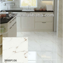 telhas de assoalho de mármore anti skid artificiais para telhas de mármore branco
