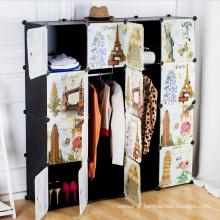Creative Pattern DIY Plastic Wardrobe Armazéns para casa (ZH0020)