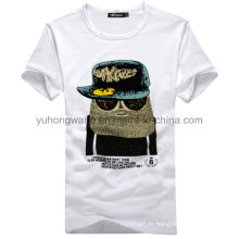 Hochwertiges Baumwollmänner bedrucktes T-Shirt