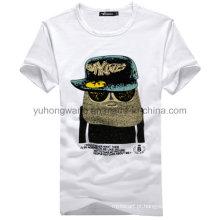 T-shirt de algodão de alta qualidade para homens