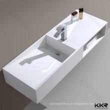 Itens sanitários pias de banheiro barato vaidade para venda bacia de superfície sólida
