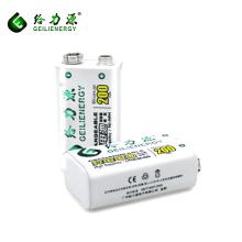 Geilienergy Fábrica custom longo ciclo de vida 200 mah recarregável nimh 9 v bateria