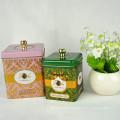 Boîte en étain théière chinoise de haute qualité promotionnelle personnalisée, boîte en étain pour thé