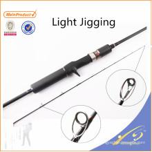 JGR033 Vente chaude pas cher canne à pêche nano carbone lumière jigging tige