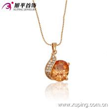 32166 Atacado mulheres de luxo jóias simplesmente projetar círculo em forma de pingente de pedras preciosas