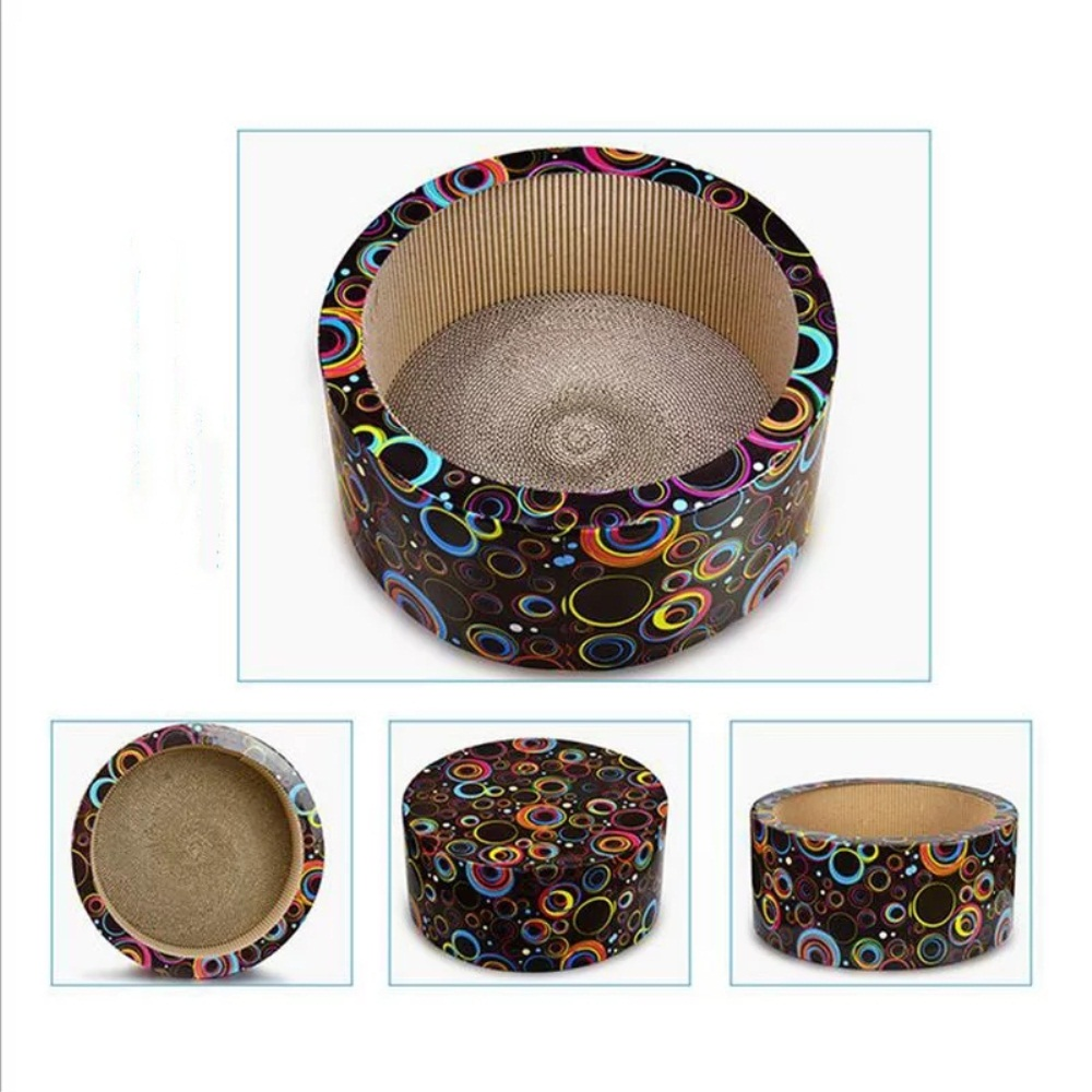colorful cat scratcher