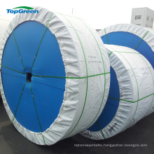 high abrasion cut edge polyester rubber conveyor belt for stone crusher