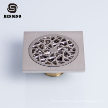 Square Garage and Bathroom Tile Insert Brass Shower Floor Drain Kitchen Strainer Chrome Plated 3 Years 4 Inch 3D Model Design