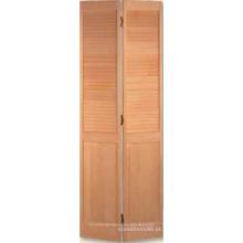 Grelha sobre painel Bifold porta mostrado na claro pinho