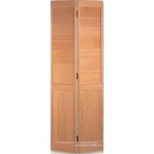 Жалюзи через двойные двери панели показано ясно сосна
