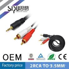 Stereo digital popular de SIPU Conecte o cabo de vídeo áudio 3,5 mm para 2rca