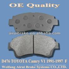 Plaquette de frein D476 pour camry V1 1991-1997