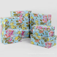 Vente en gros Papeterie à fleurs sur mesure Emballage cadeau Boîtes
