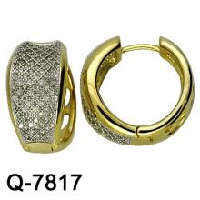 Горячая продажа Серебряная бижутерия Циркония серьги (Q-7817)