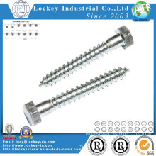 Steel Hex Wood Screw Per DIN571