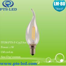 C35ta 1W 2W 3W 4W LED filamento iluminação de vela