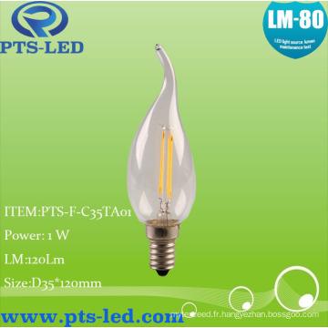 C35ta 1W 2W 3W 4W LED à incandescence éclairage de bougie