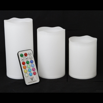Timer flameless LED candle set