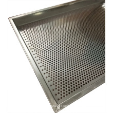 stainless steel food grade perforated metal tray