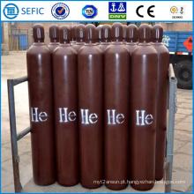 Cilindro de gás de hélio de alta pressão de aço sem costura 40L (ISO9809-3)