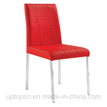 Bestsale Cafe Restaurant Stacking Red Leather Steel Dining Chair (SP-LC247)