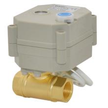 Actuador eléctrico en miniatura Válvula de bola de latón con función manual