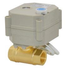 Miniature Electric Actuator Brass Ball Valve with Manual Function