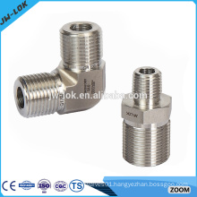 Gas stainless steel threaded pipe fittings