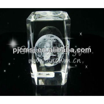 Wholesale Laser Crystal World Globe For Map Souvenirs