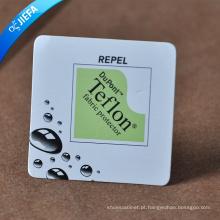 Etiqueta de suspensão de papel para logotipo de marca de efeito 3D / etiqueta de balanço
