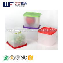 Fábrica directa de plástico moldes para cajas de almacenamiento con orificios de enfriamiento toma de corriente eléctrica para cajas de almacenamiento de moldes