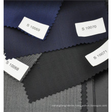 blue color 70 wool 30 polyester blend boiled wool fabric for formal suit boss suit