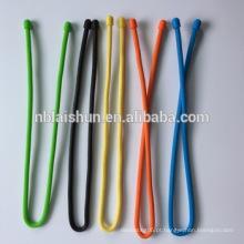 Laço reusável da engrenagem do silicone para organizar acessórios da gravata da fiação
