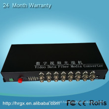 FC connector 20km digital optical fiber 16 channel video converter
