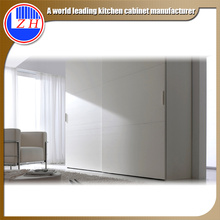 Glossy White Wood Wardrobe for Hotel Furniture (customized)