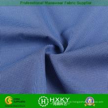 Tecido de poliéster de floss cation com padrão de verificações para jaqueta