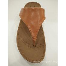 2016 Damen-Slip auf Leder Sandalen Schuhe, Slipper Schuhe
