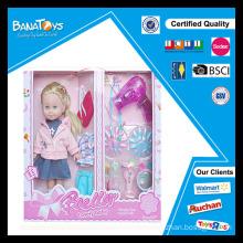 Jouet de poupée de mode populaire avec des poupées de sèche-cheveux qui ont l'air réelles